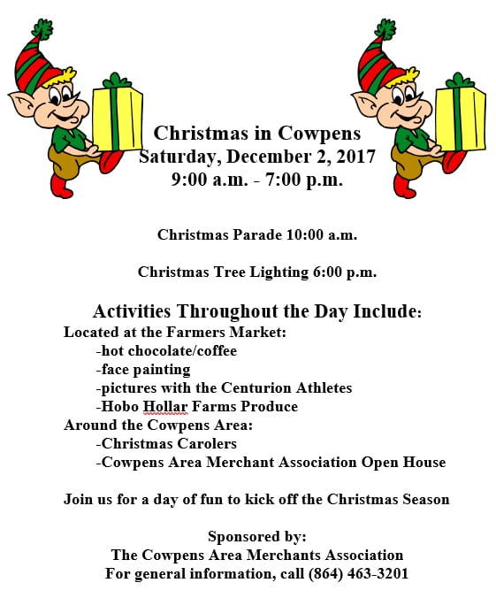 Cowpens Christmas Parade 2017 @ Town of Cowpens | Cowpens | South Carolina | United States