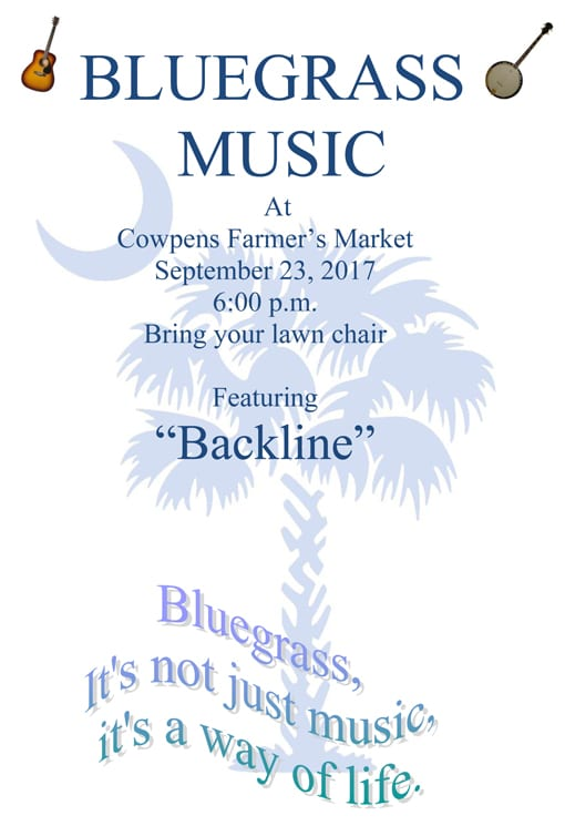 Bluegrass Music @ Cowpens Farmer's Market | Cowpens | South Carolina | United States